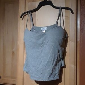 Soft Surroundings Tank Top With Built In Bra